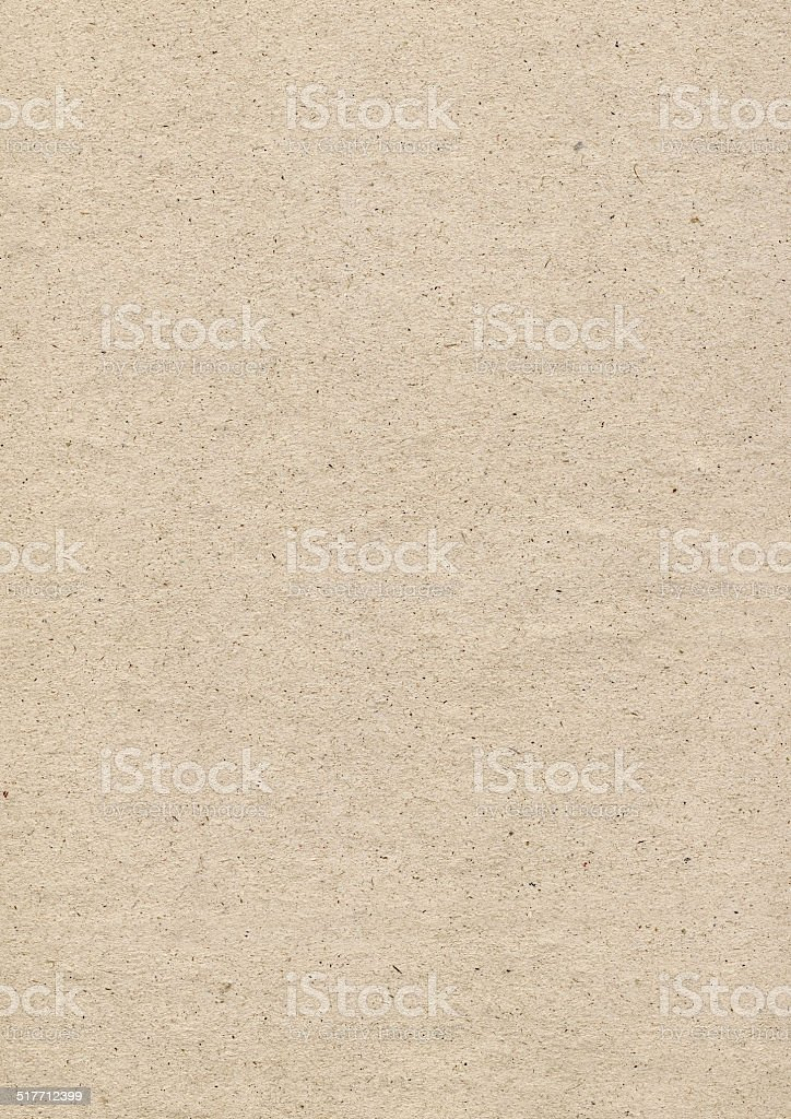Beige Recycled Paper Coarse Mottled Grunge Texture stock photo
