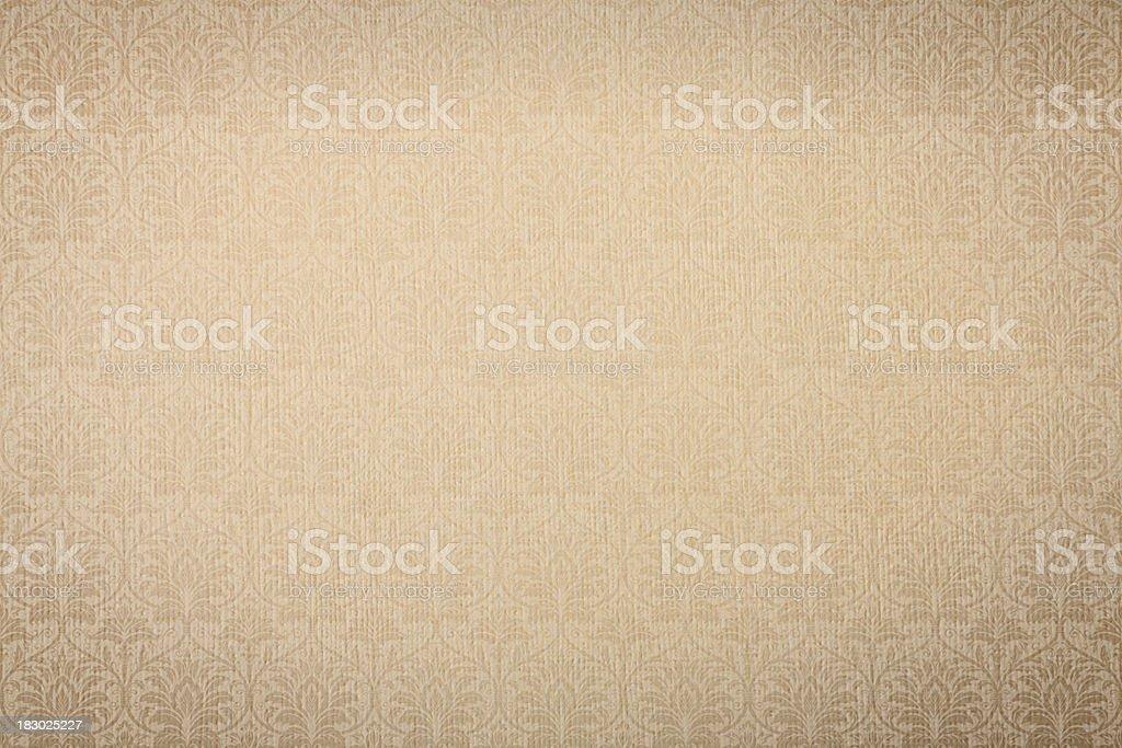 Beige Retro Wallpaper Pattern royalty-free stock photo