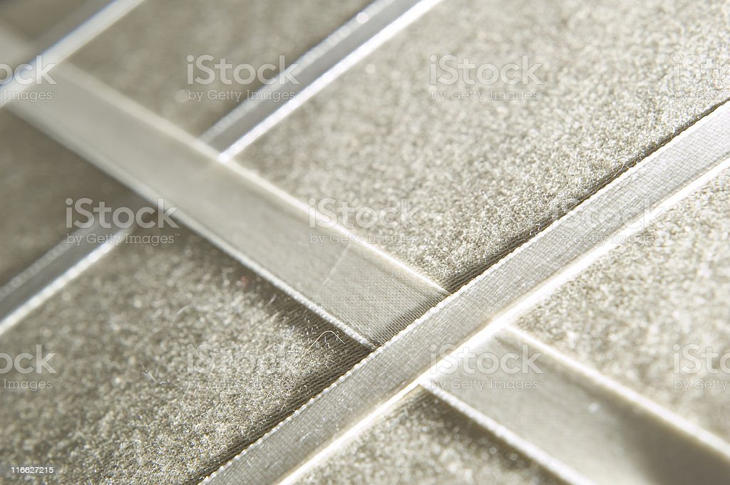 Beige Ribbon and Fabric royalty-free stock photo