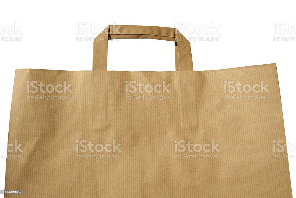 Beige shopping bag royalty-free stock photo