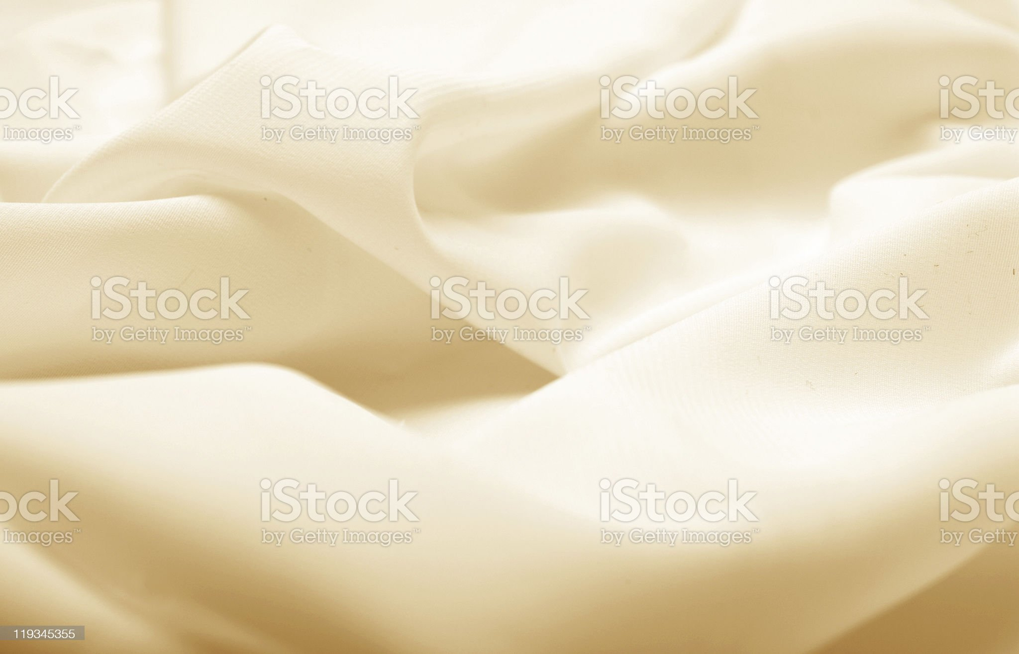 beige silk fabric with wave royalty-free stock photo