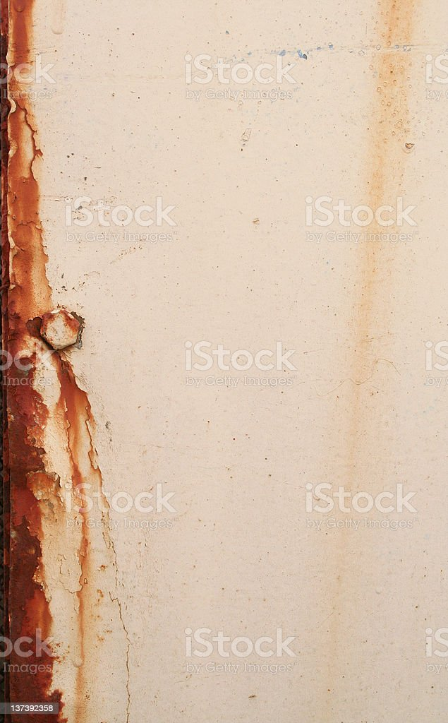 Beige space with rusted edge stock photo