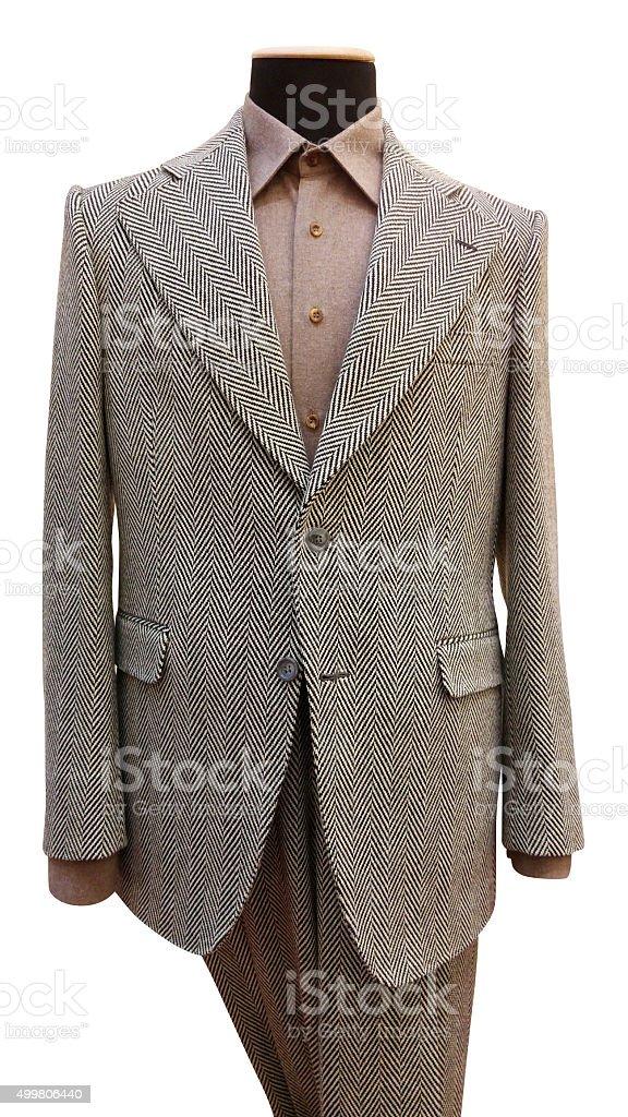 beige suit stock photo