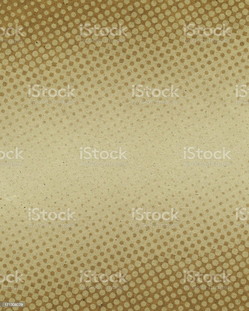 beige textured paper with halftone stock photo