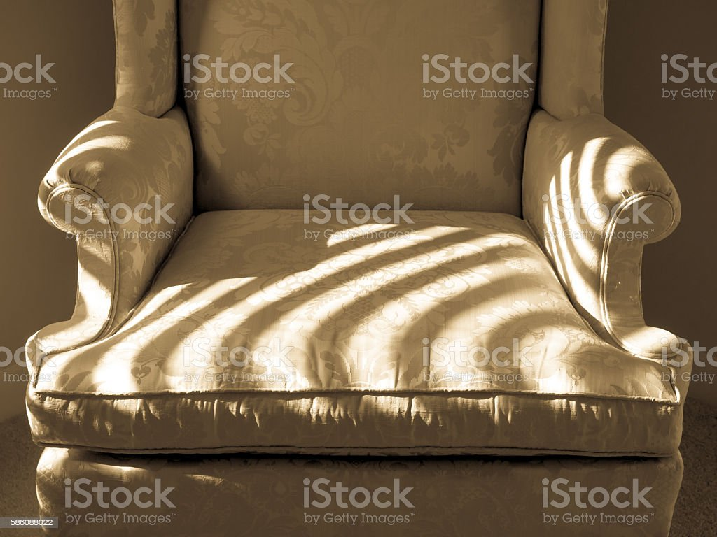 Beige Upholstered Chair stock photo