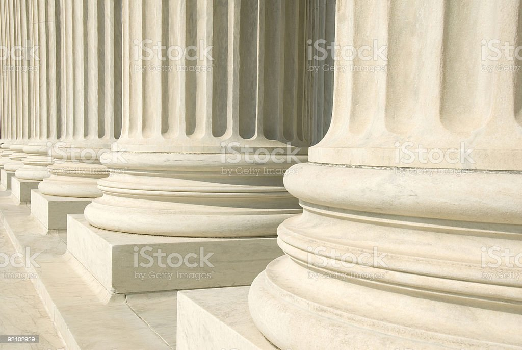 Beige US supreme court columns stock photo