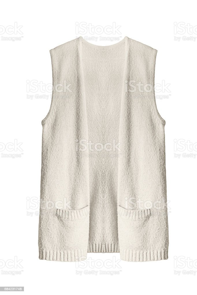 Beige vest stock photo