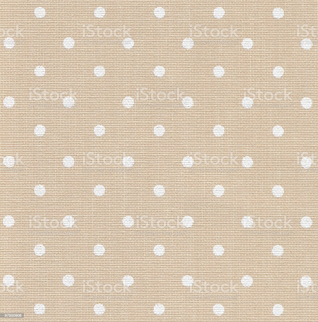 Beige wallpaper with white dots royalty-free stock photo