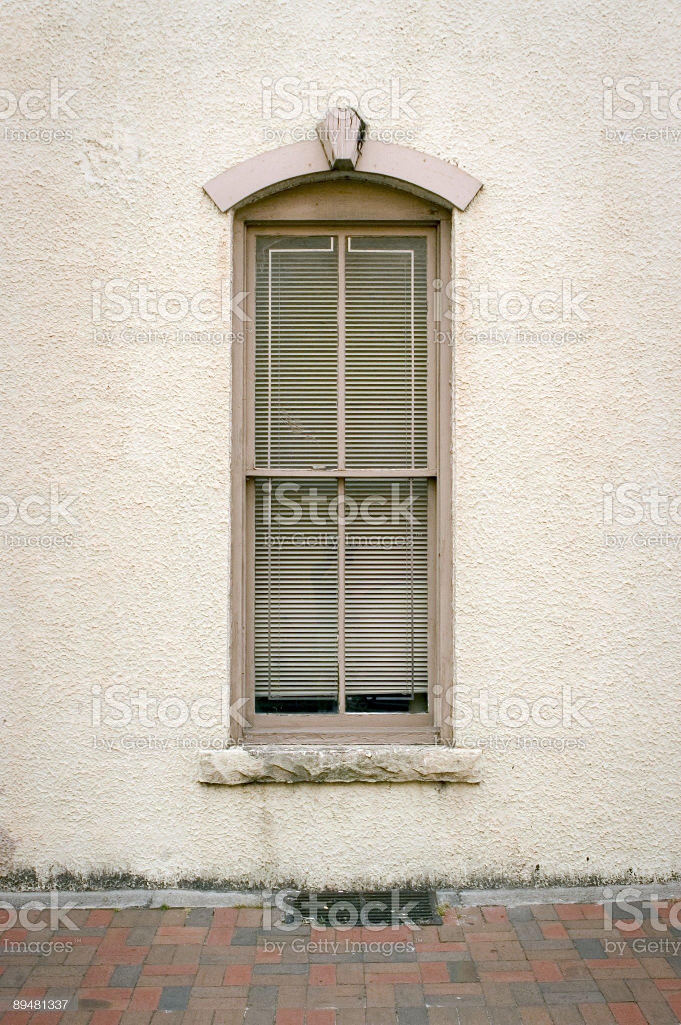 Beige Window royalty-free stock photo