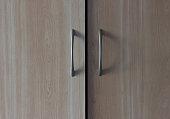 beige wooden wardrobe handle