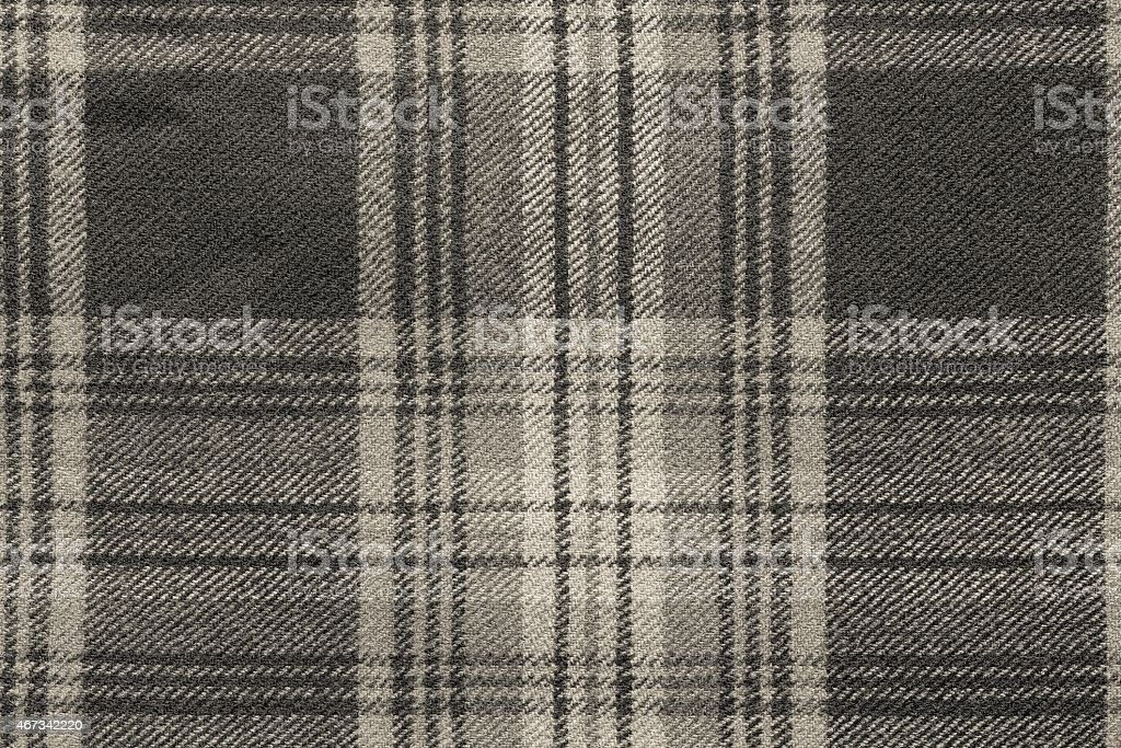 beige woolen fabric with an checkered pattern stock photo