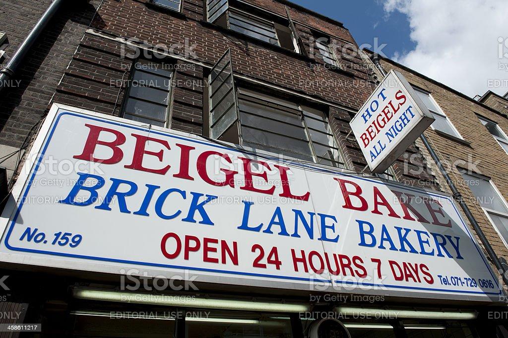 Beigel Bake Brick Lane stock photo