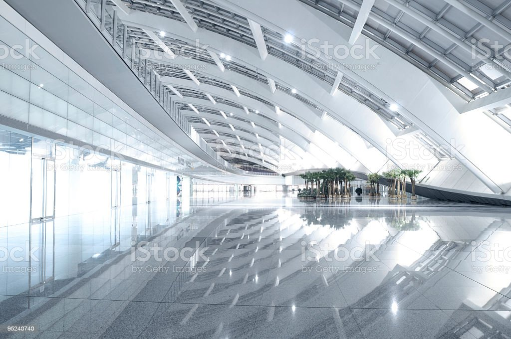 Beijing Airport Interior stock photo