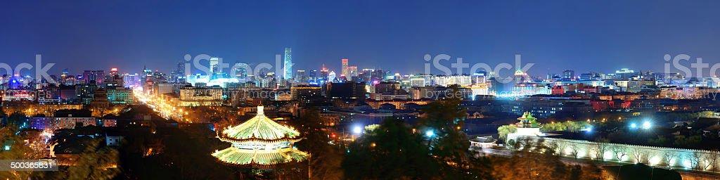 Beijing at night stock photo