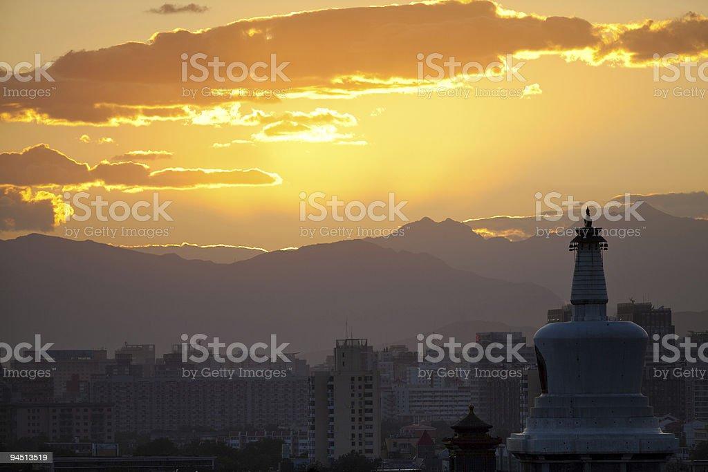Beijing at sunset royalty-free stock photo