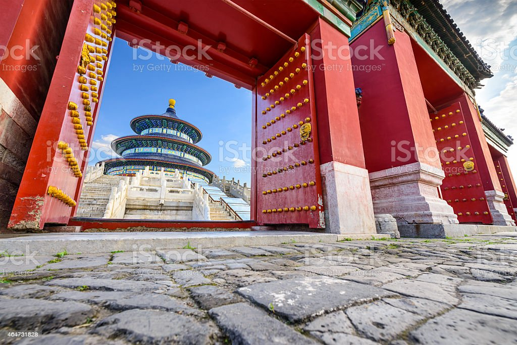 Beijing at Temple of Heaven stock photo