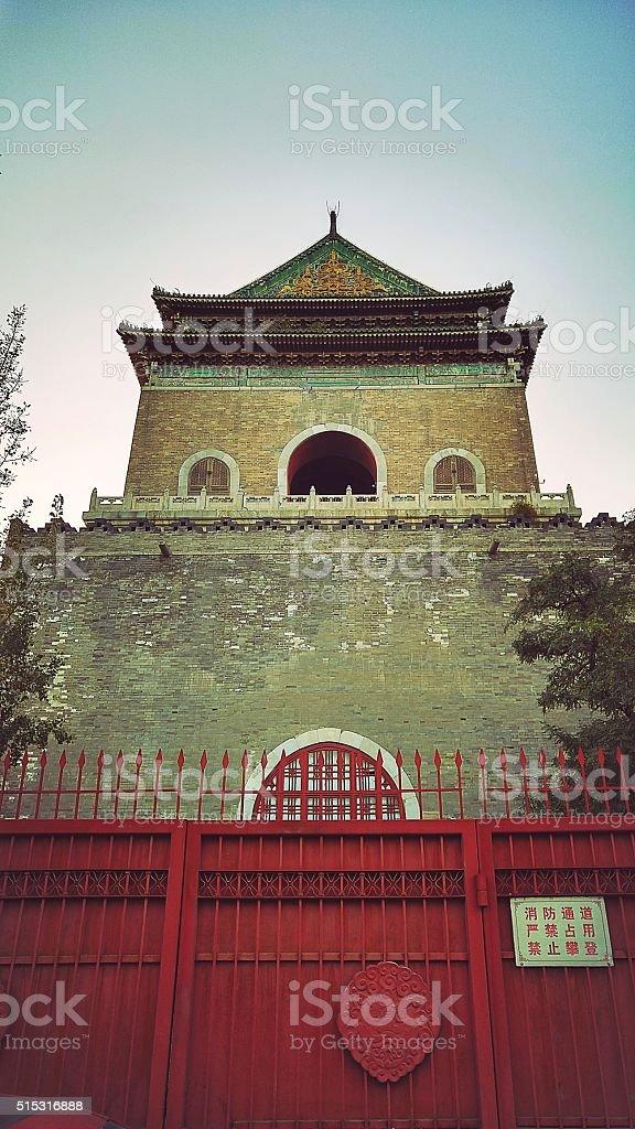 Pechino Bell Tower foto stock royalty-free