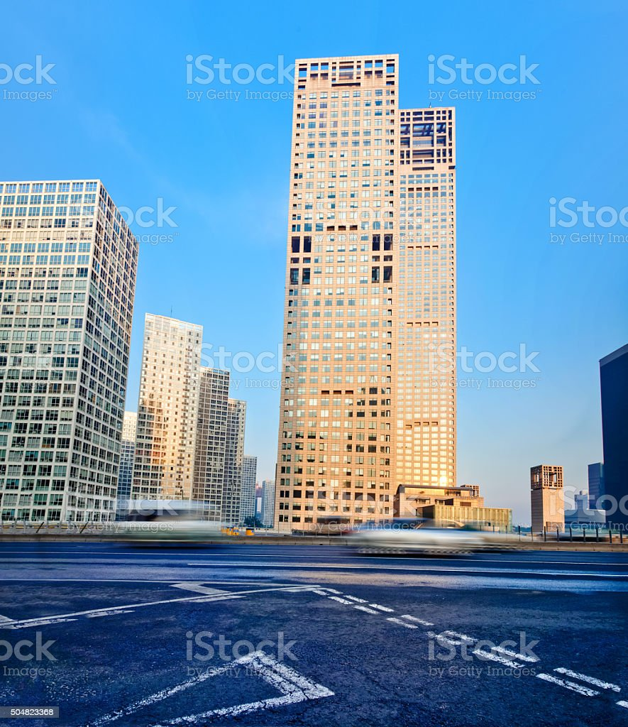 Beijing CBD skyline stock photo