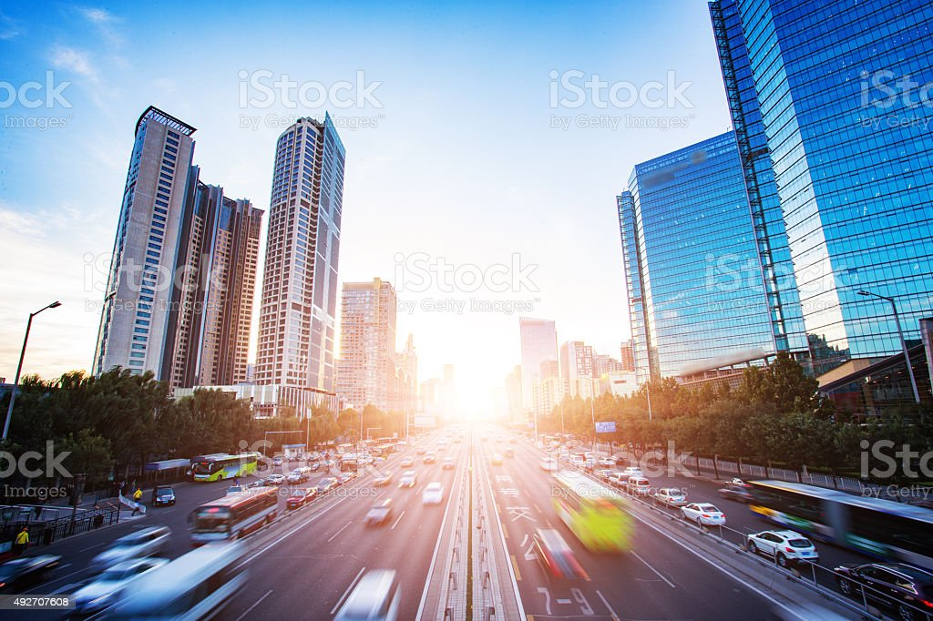 Beijing Central Business District stock photo