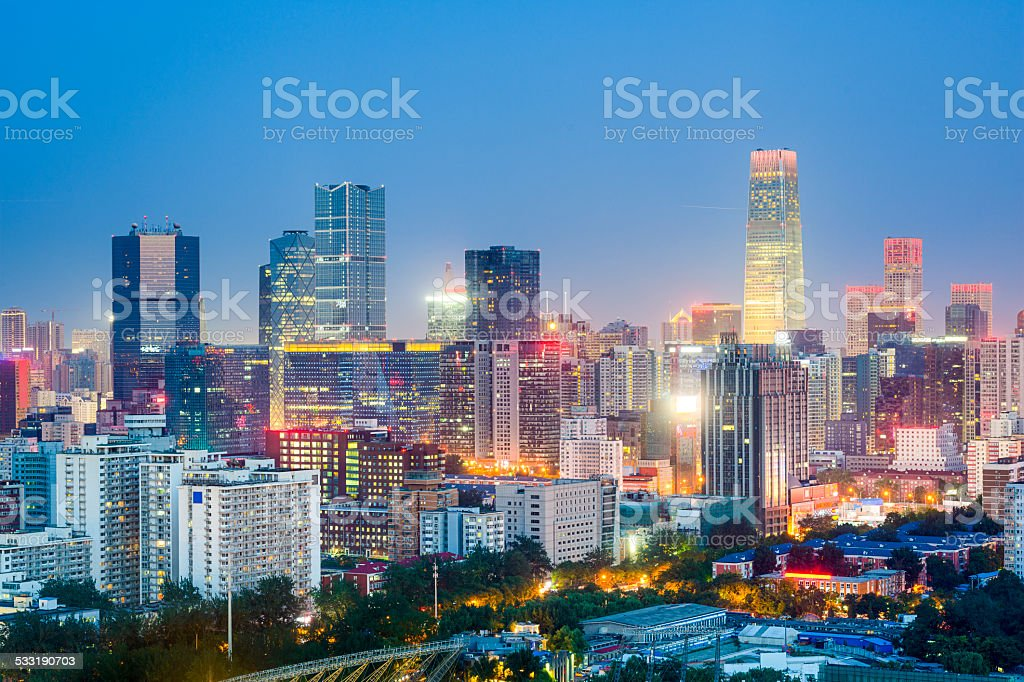 Beijing, China Cityscape stock photo