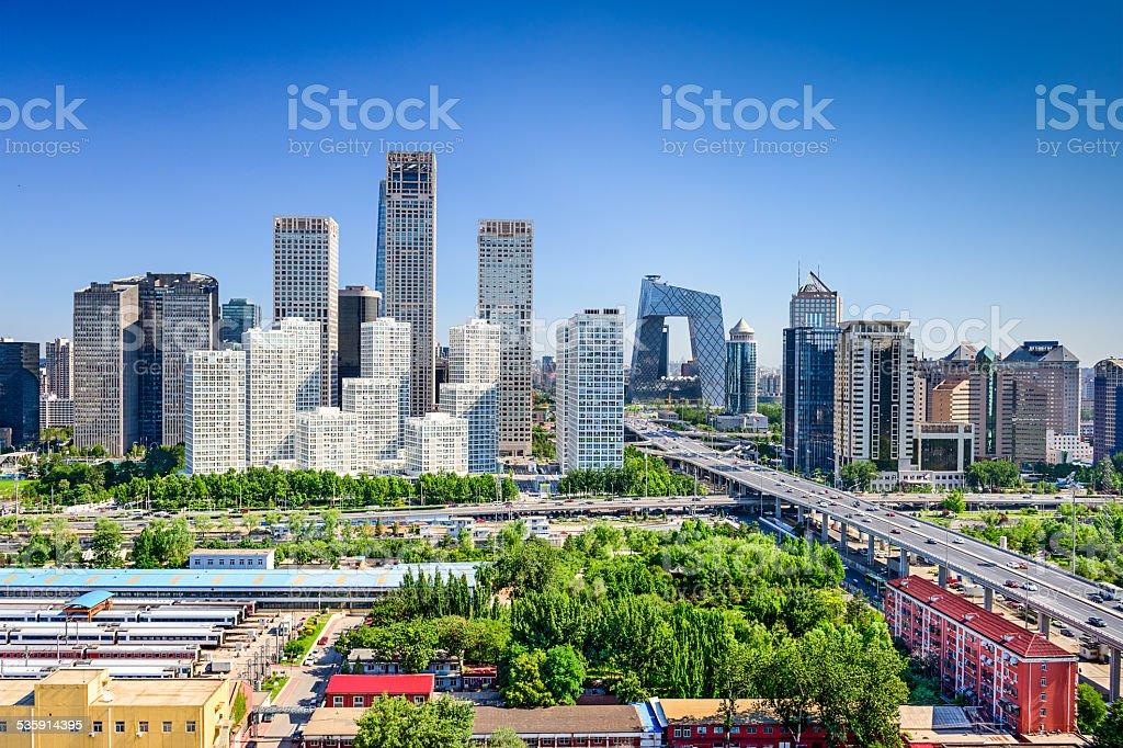 Beijing China FInancial District Skyline stock photo