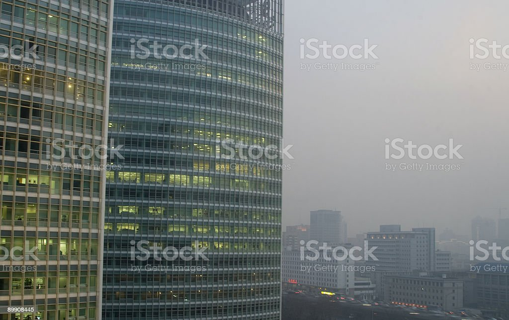 Beijing China, smog royalty-free stock photo