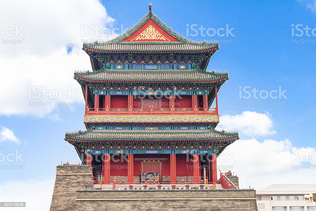 Beijing Drum Tower stock photo