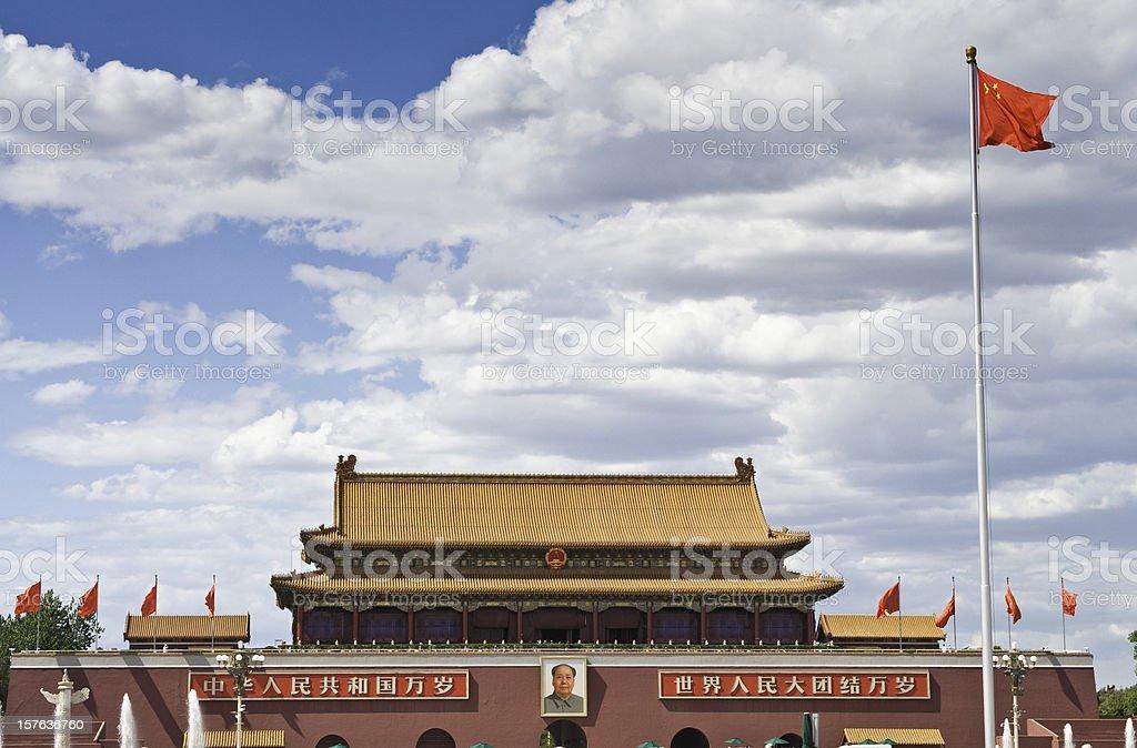 Beijing Forbidden City gate royalty-free stock photo