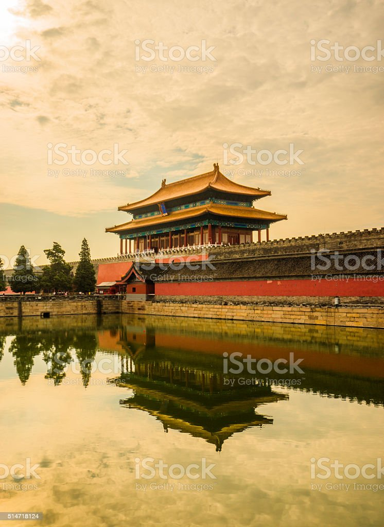 Beijing Forbidden City river stock photo