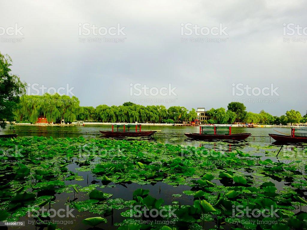 Beijing lake stock photo