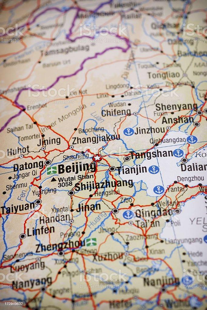 Beijing map stock photo