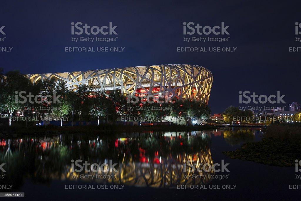 Beijing Olympic National Stadium-Bird's Nest Night view royalty-free stock photo