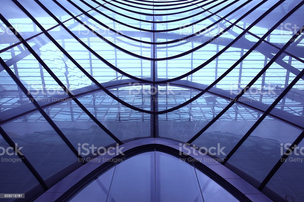 Beijing Planetarium abstract structure stock photo