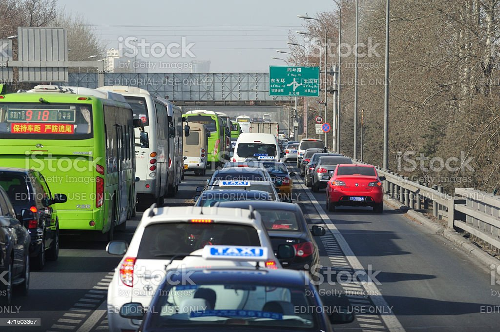 Beijing Rush Hour royalty-free stock photo