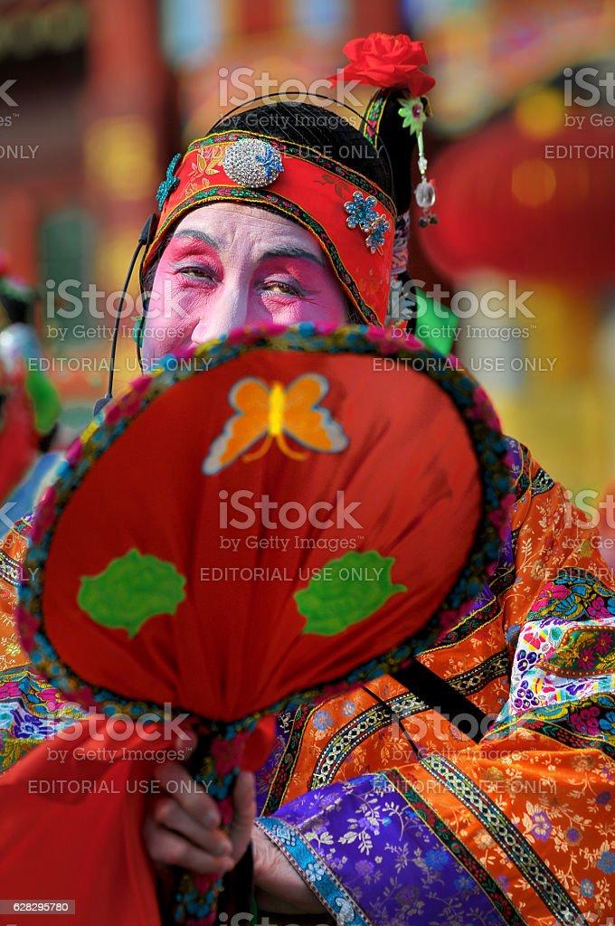 Beijing 's Liulichang' s 'Austin Temple Fair'. stock photo