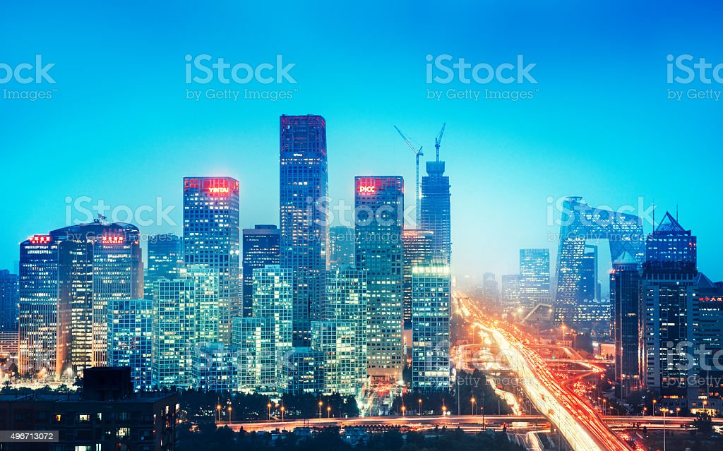Beijing skyline, China stock photo