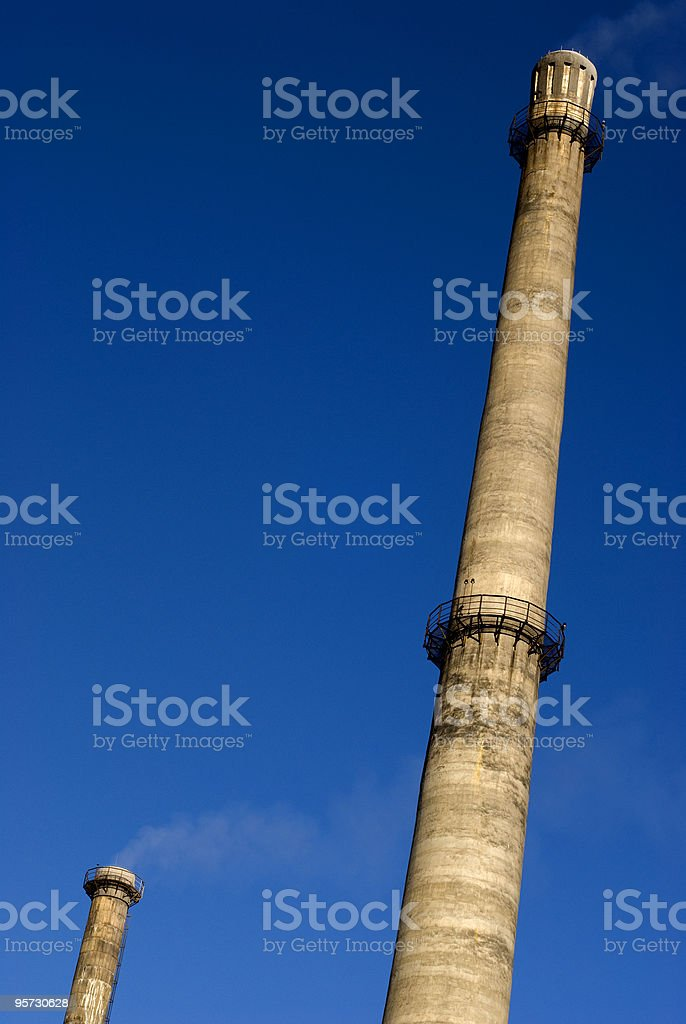 Beijing Smokestacks Touching the Sky stock photo