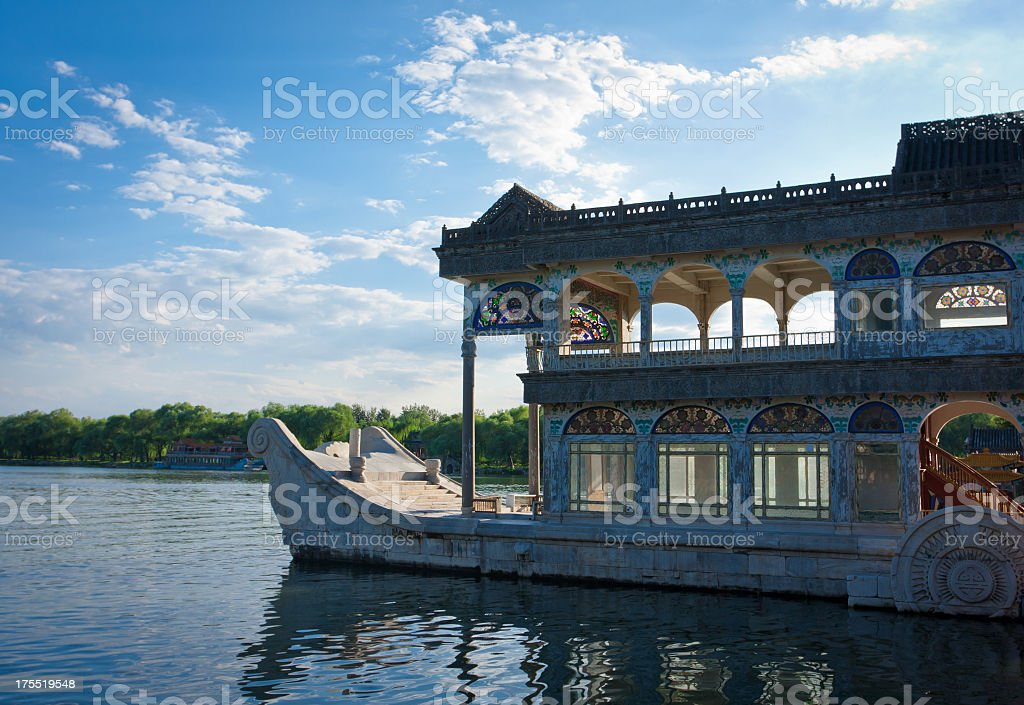 Beijing Summer Palace Marble Boat stock photo