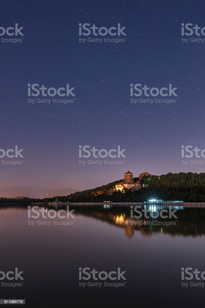 Beijing Summer Palace Starry Sky stock photo