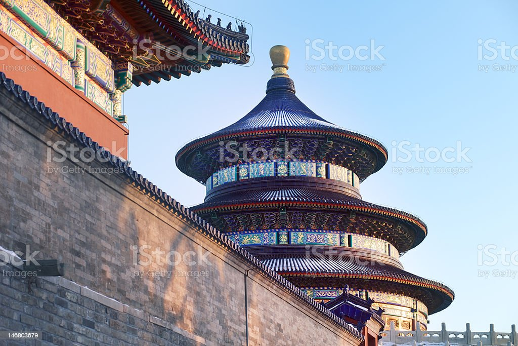 Beijing Temple of Heaven in China stock photo