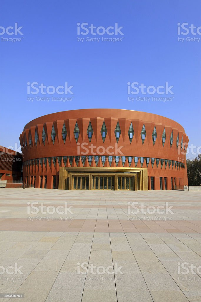 Beijing tsinghua university campus architecture and landscape, c royalty-free stock photo