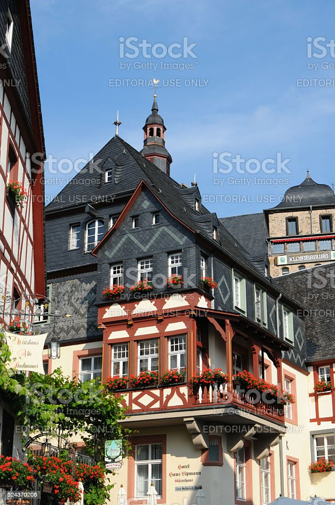 Beilstein at Mosel River in Mosel Valley (Germany) stock photo