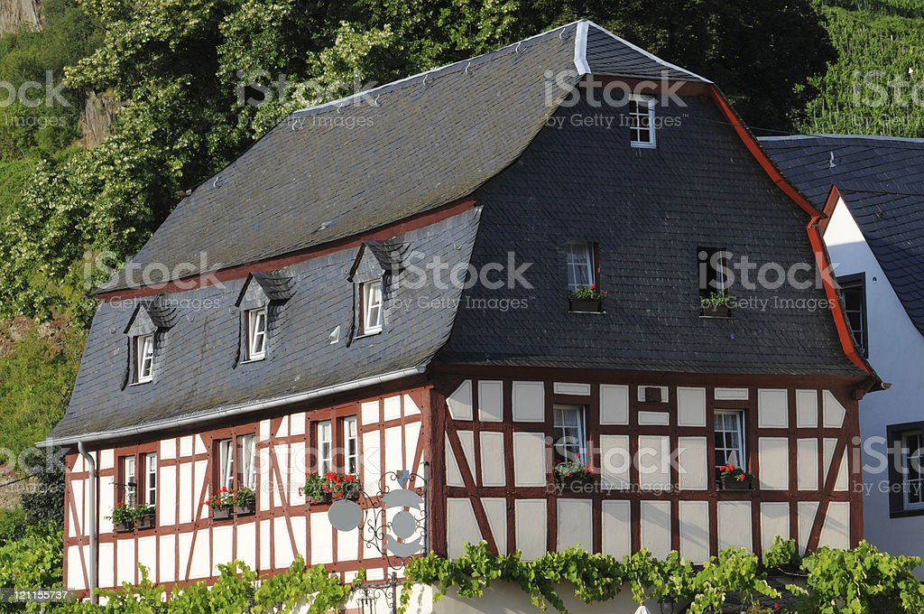 Beilstein in mosel valley with typical Half-Timbered stock photo
