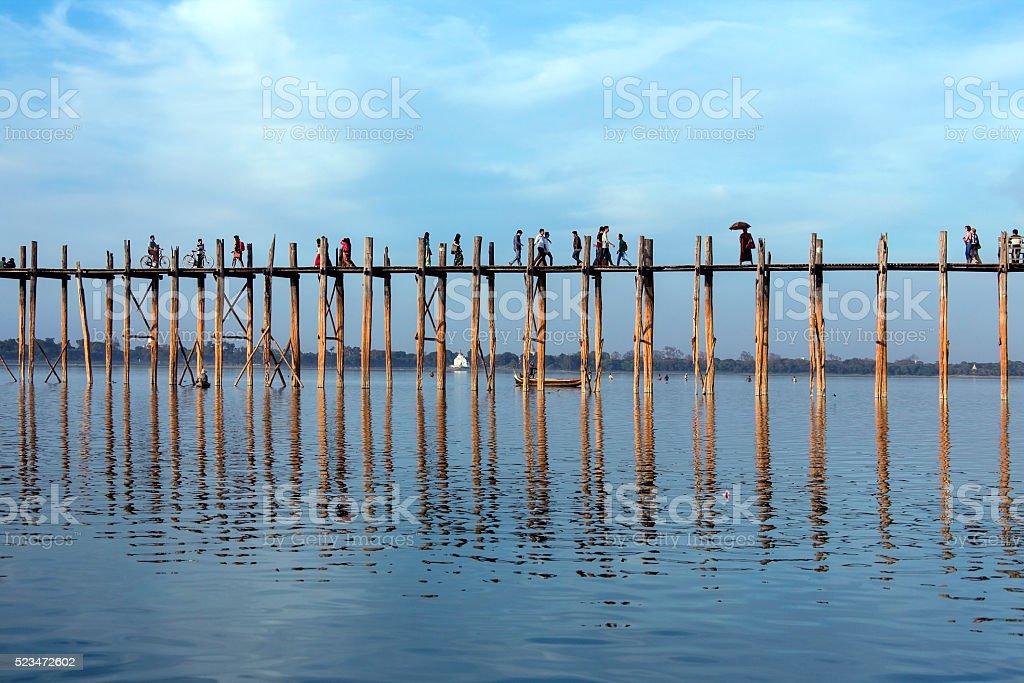 U Bein Bridge - Amarapura - Myanmar stock photo
