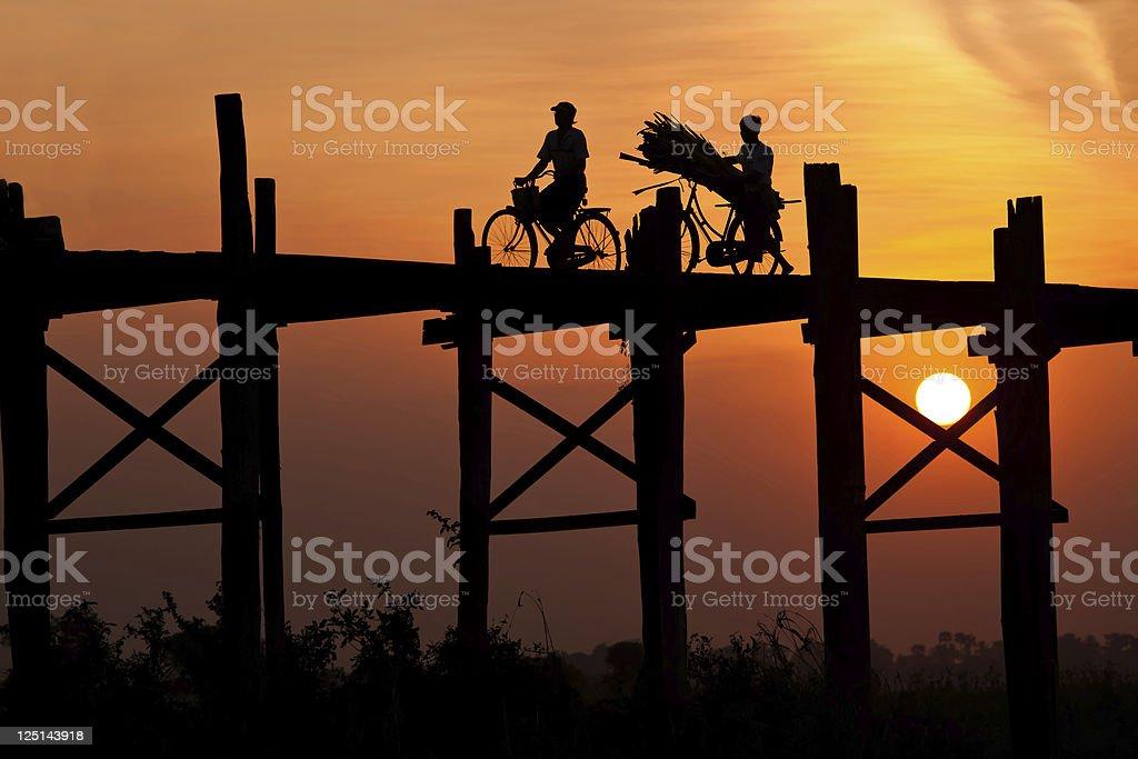 Bein Bridge, Myanmar stock photo