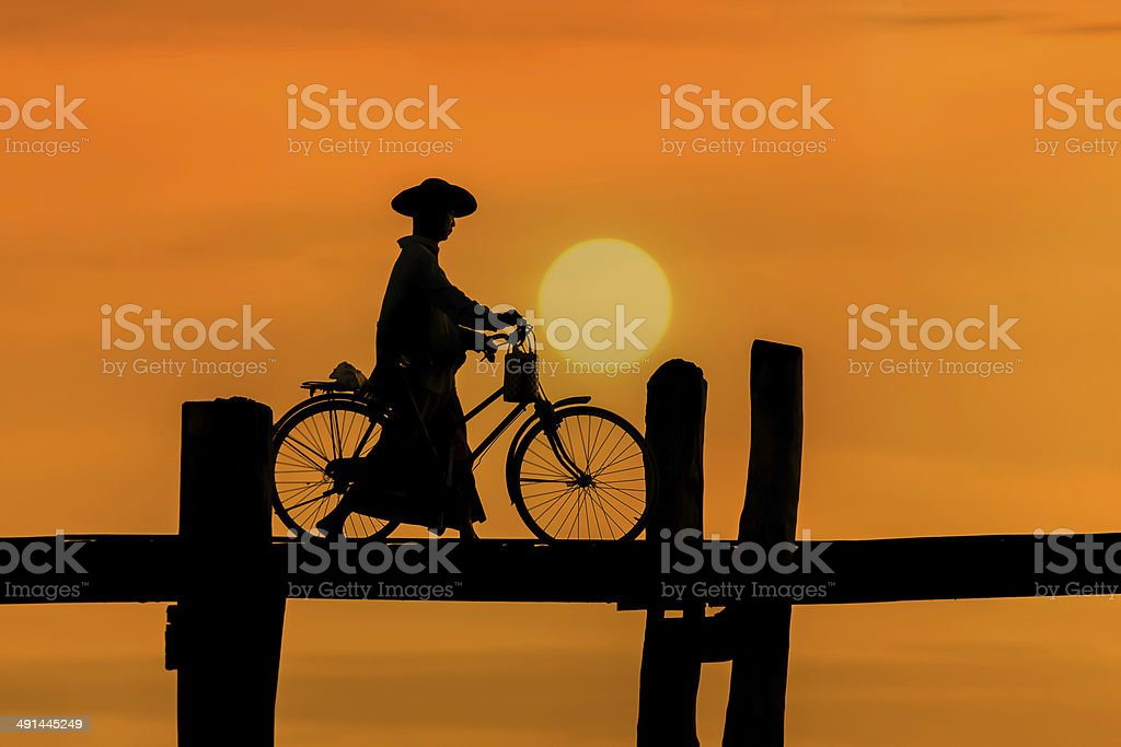 U Bein bridge stock photo