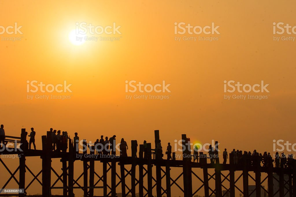 U Bein Bridge stock photo