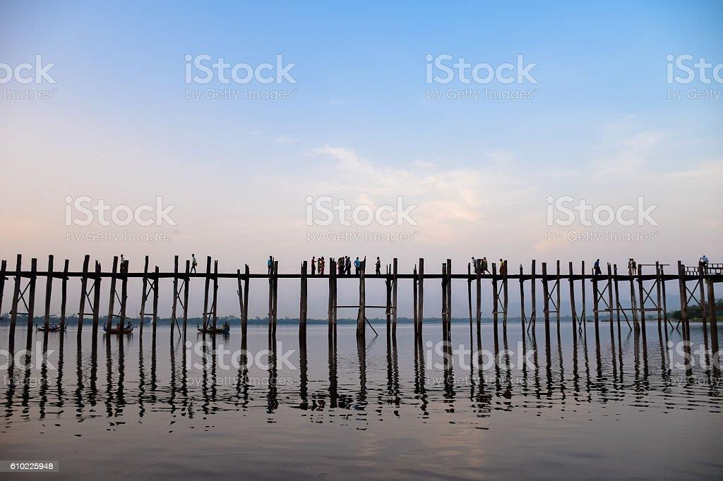 U Bein Bridge The Longest Teak Bridge in the World stock photo