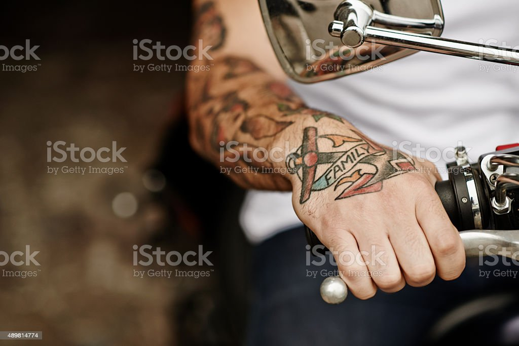 Being a biker stock photo