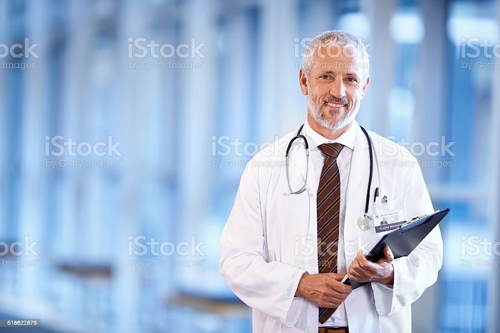 Being a doctor is so fulfilling stock photo